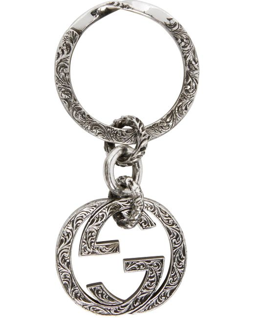 メンズ Gucci 【公式】 (グッチ)インターロッキングg キーリングスターリングシルバーundefined Metallic