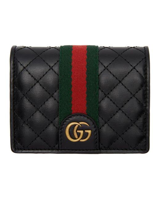 Gucci ブラック GG ウェブ ウォレット Black