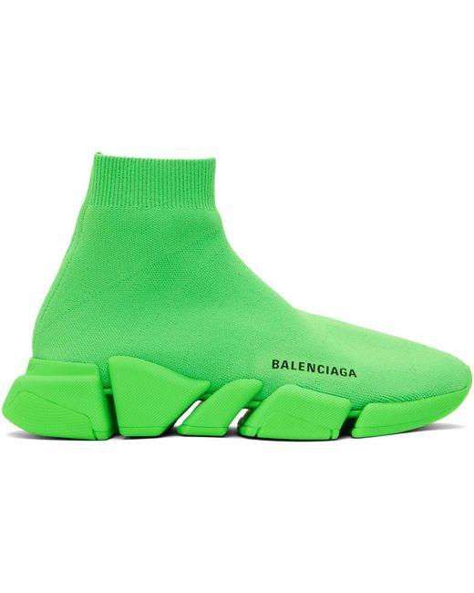 メンズ Balenciaga グリーン Speed 2.0 スニーカー Green