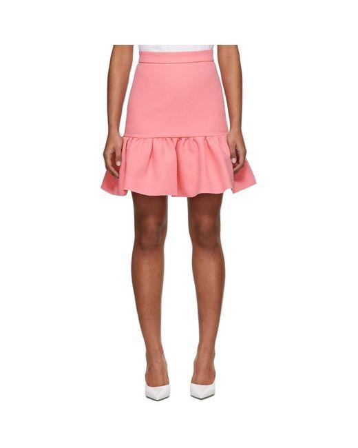 MSGM ピンク ラッフル ミニスカート Pink