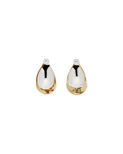 Charlotte Chesnais - Metallic Gold And Silver Large Petal Earrings - Lyst