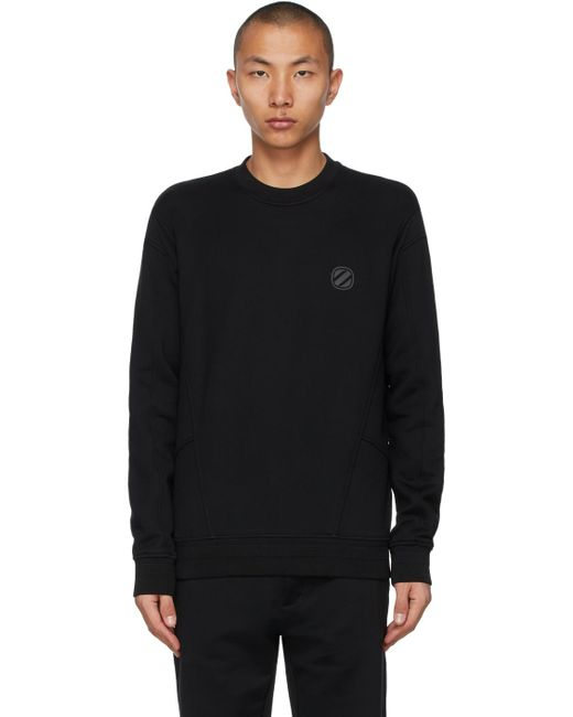 メンズ Ermenegildo Zegna ブラック ロゴ スウェットシャツ Black