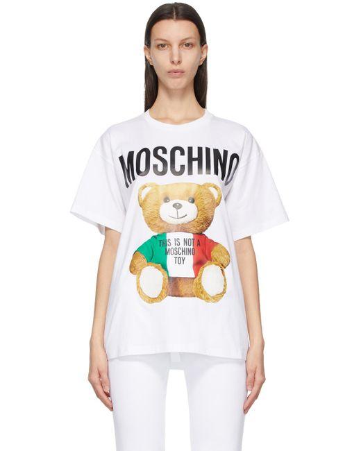 Moschino ホワイト Italian Teddy Bear T シャツ White