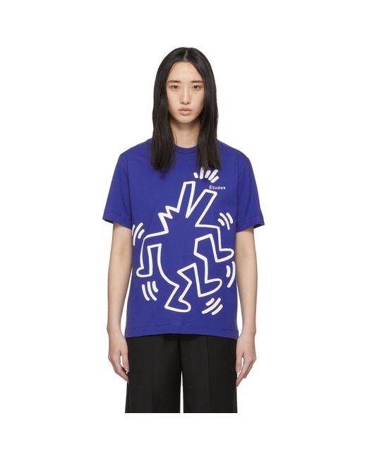 Etudes Studio Keith Haring Edition ブルー Wonder T シャツ Blue