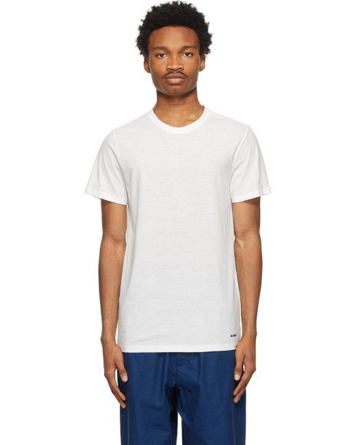 メンズ Jil Sander オフホワイト ロゴ T シャツ White