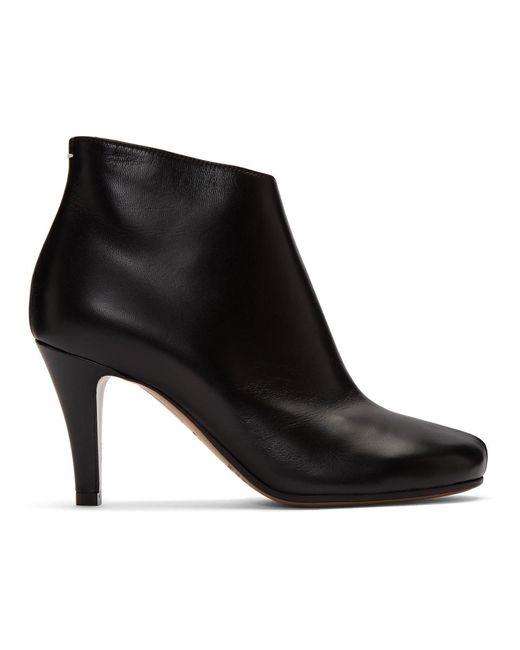 Maison Margiela ブラック スティレット Tabi ブーツ Black