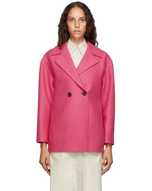Harris Wharf London ピンク プレス ウール ジャケット Pink