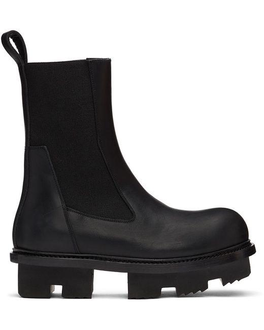 Rick Owens Black Beatle Megatooth Boots