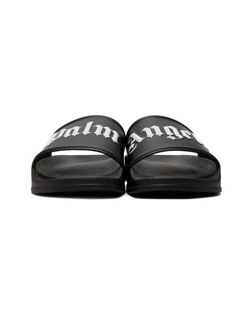 bc4b1bfc1785 Lyst - Palm Angels Logo-print Rubber Slides in Black for Men - Save 79%
