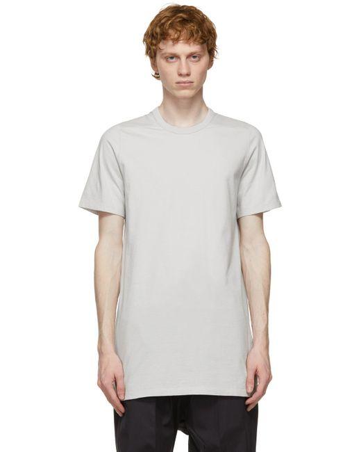 メンズ Rick Owens オフホワイト Level T シャツ White
