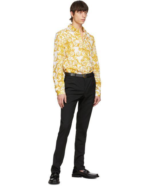 メンズ Versace Jeans ブラック & ゴールド ベルト Black