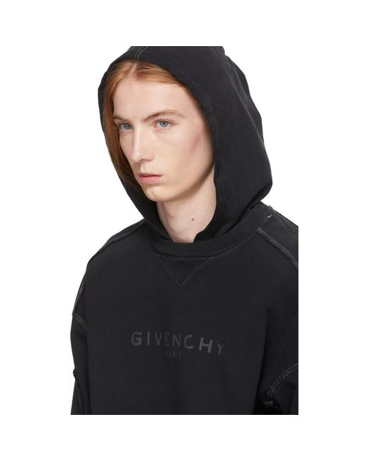 146f8c3159b Lyst - Pull a capuche noir Paris Givenchy pour homme en coloris Noir