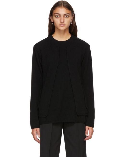 Comme des Garçons ブラック ウール セーター Black