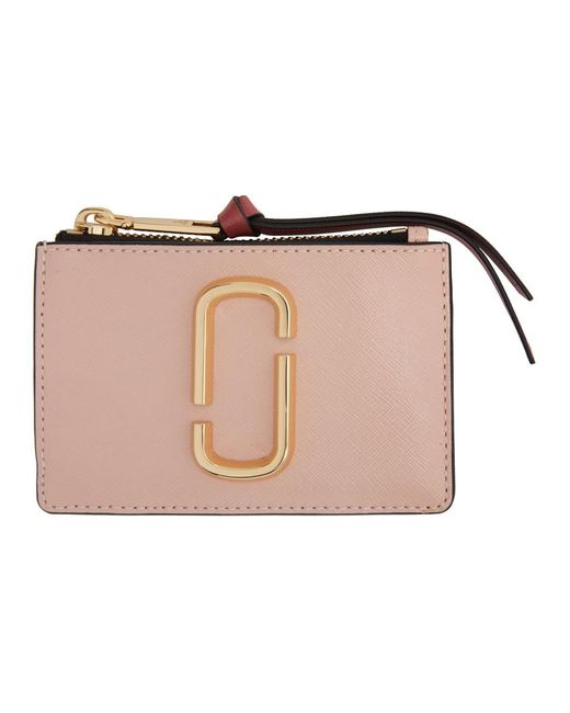 Marc Jacobs ピンク The Snapshot トップ ジップ カード ケース Pink