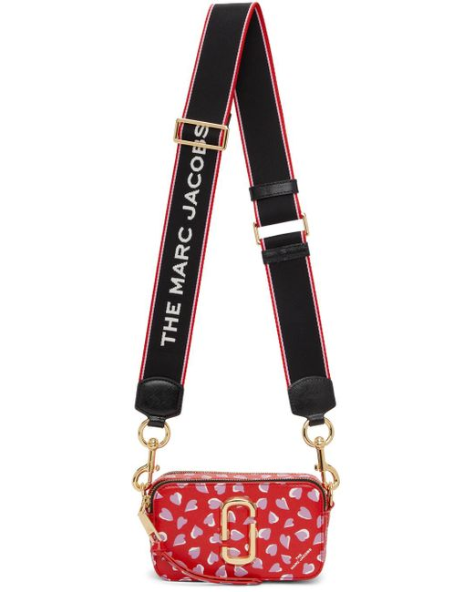 Marc Jacobs レッド ハート The Snapshot バッグ Red