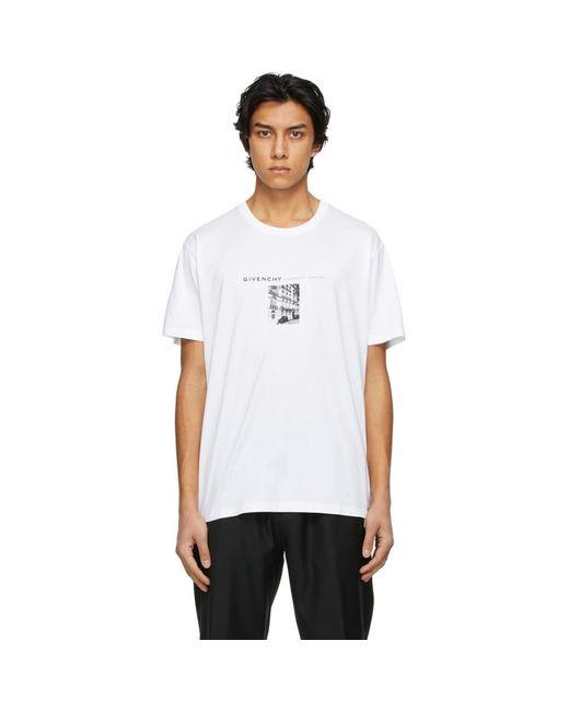 メンズ Givenchy ホワイト T シャツ White