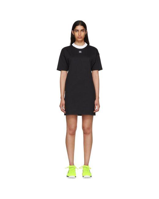 d2e55d18e7a Lyst - Adidas Originals Black 3-stripe Dress in Black