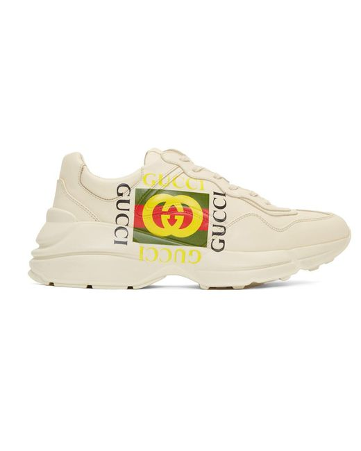 Gucci - Off-white Cube Rhyton Sneakers - Lyst