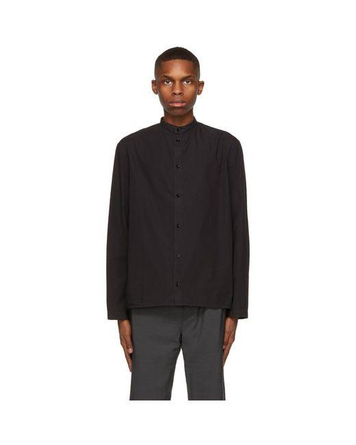 メンズ Lemaire ブラック ブラウス シャツ Black