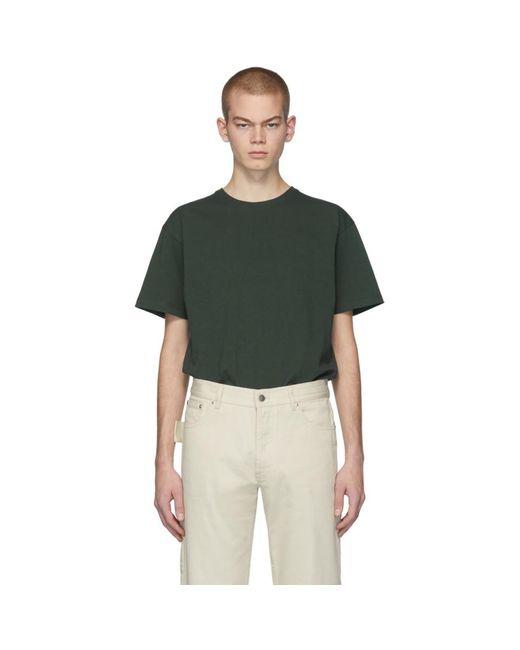 メンズ Bottega Veneta グリーン ステッチ T シャツ Green