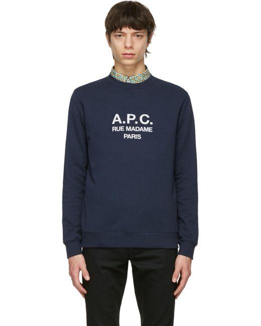 メンズ A.P.C. ネイビー Rufus スウェットシャツ Blue