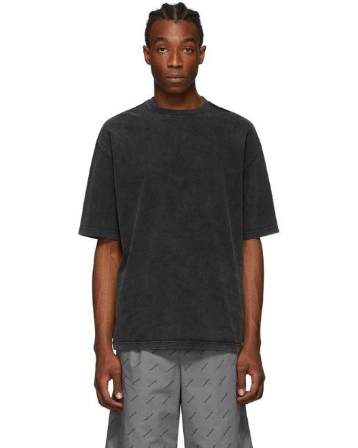 メンズ Balenciaga グレー Bb レギュラー T シャツ Black