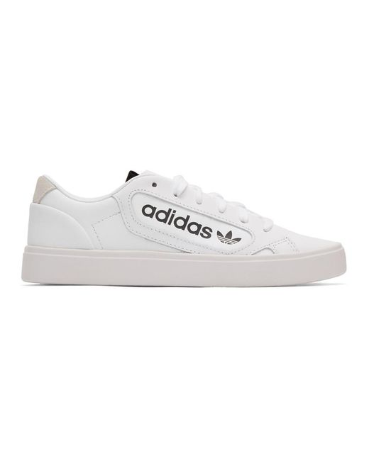 Adidas Originals ホワイト スリーク スニーカー White