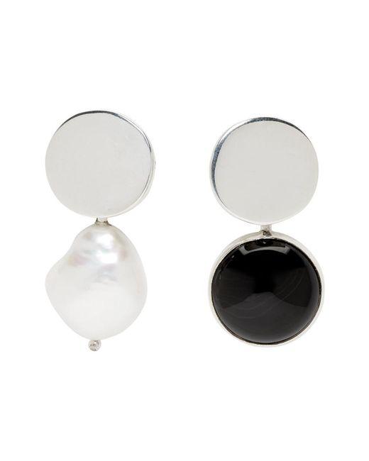 Faris - Metallic Silver Nica Earrings - Lyst