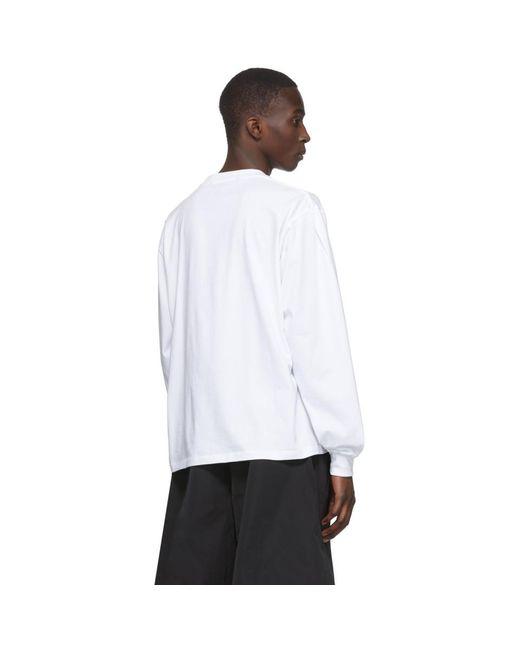 メンズ Random Identities ホワイト ノー ロゴ ノー ロング スリーブ T シャツ White