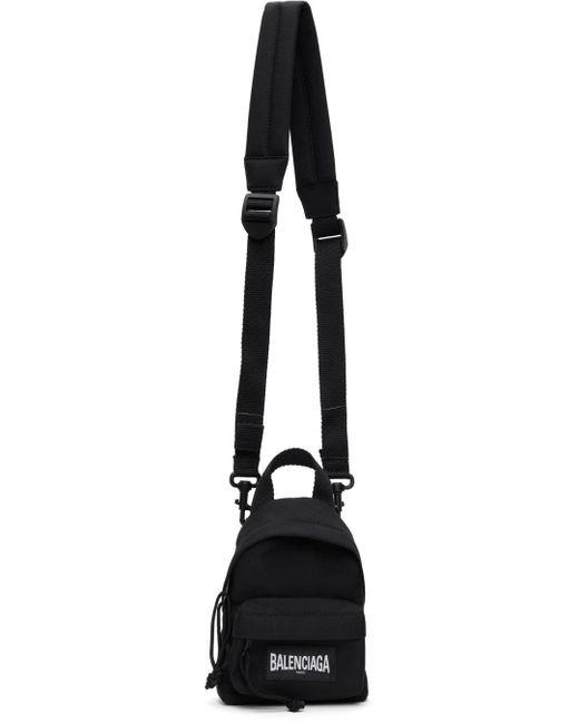 メンズ Balenciaga ブラック ミニ Backpack バッグ Black