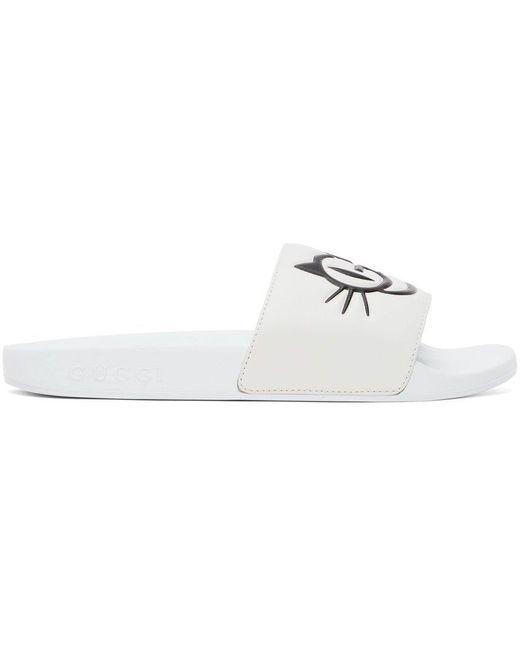 Gucci ホワイト Pursuit スライド White