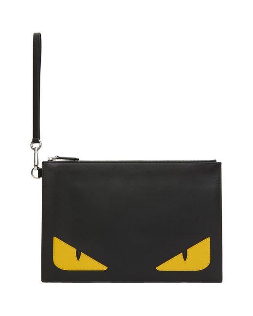 メンズ Fendi ブラック Bag Bugs ポーチ Black