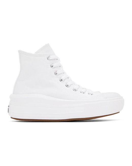 Converse ホワイト Chuck Taylor All Star Move ハイ スニーカー ウィメンズ White