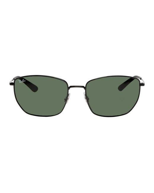メンズ Ray-Ban ブラック And グリーン Rb3653 サングラス Multicolor