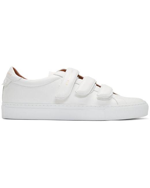 メンズ Givenchy ホワイト Urban Knots ストラップ スニーカー White