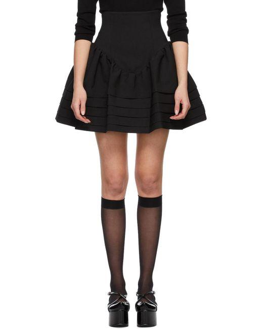 ShuShu/Tong ブラック High Waist Ruffle スカート Black
