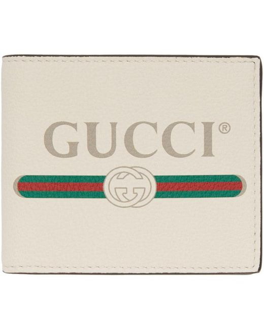 Lyst - Gucci White Logo Wallet in White for Men