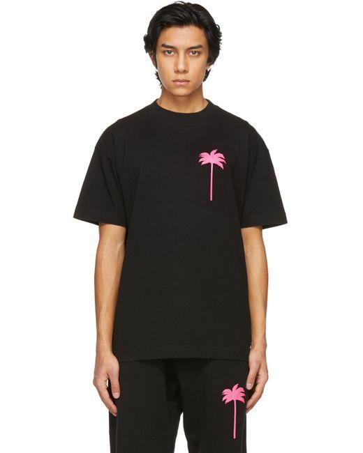 メンズ Palm Angels ブラック Palm Tree T シャツ Black