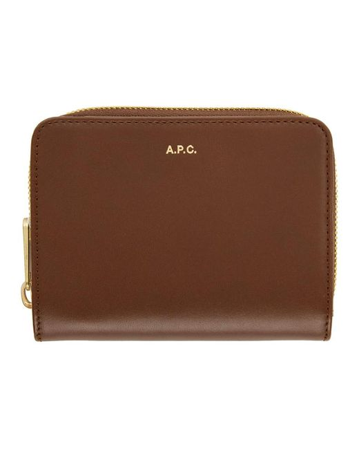 A.P.C. ブラウン コンパクト Emmanuelle ウォレット Brown