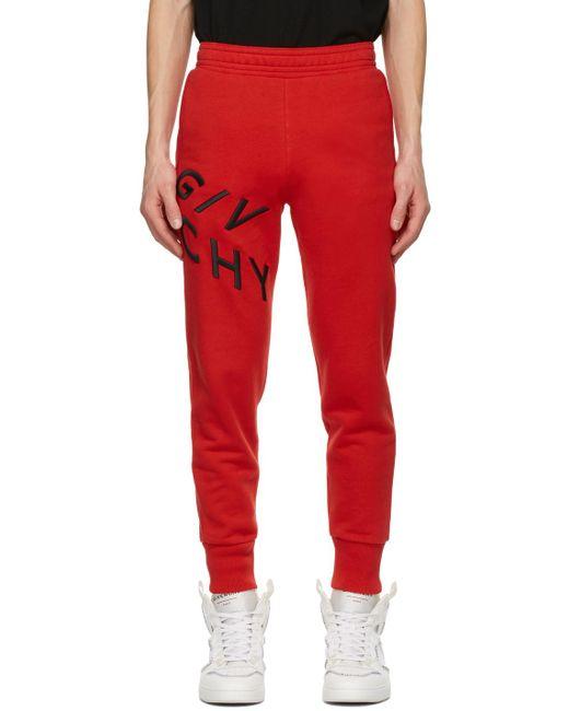 メンズ Givenchy レッド Refracted ラウンジ パンツ Red