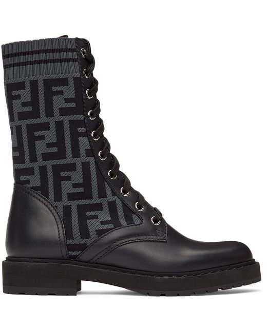 Fendi ブラック Forever Rockoko ブーツ Black