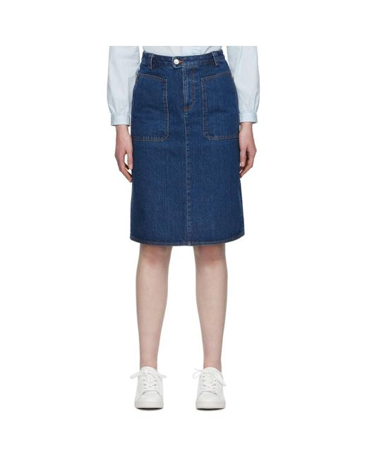 A.P.C. ブルー Nevada スカート Blue