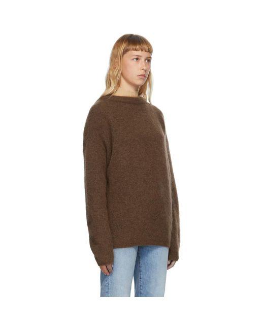 Acne ブラウン ウール And モヘア オーバーサイズ セーター Brown