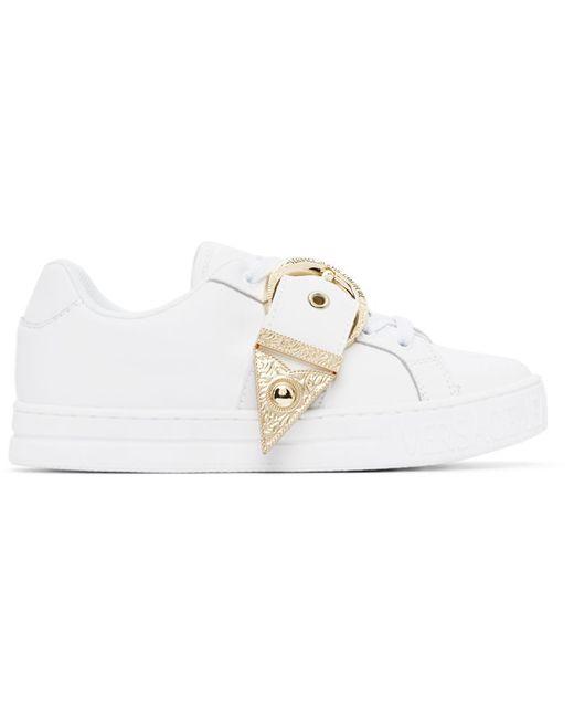 Versace Jeans ホワイト & ゴールド スニーカー White