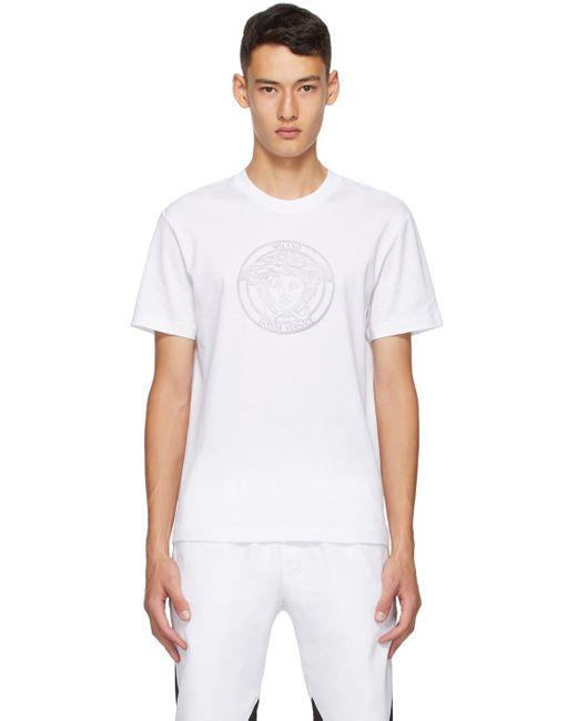 メンズ Versace ホワイト Medusa Taylor T シャツ White
