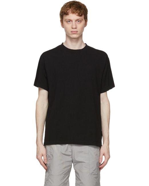 メンズ A_COLD_WALL* * ブラック シグネチャ グラフィック T シャツ Black
