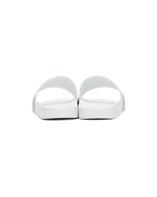 メンズ Gucci ホワイト パシュート プール スライド White