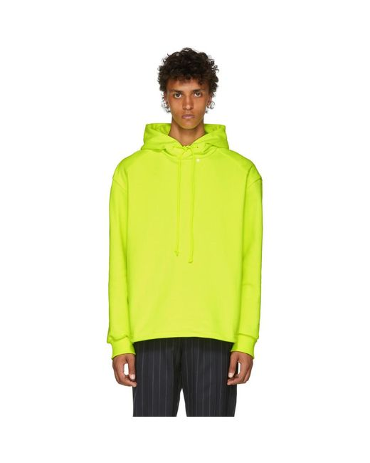 Juun.J - Yellow Panelled Hoodie for Men - Lyst
