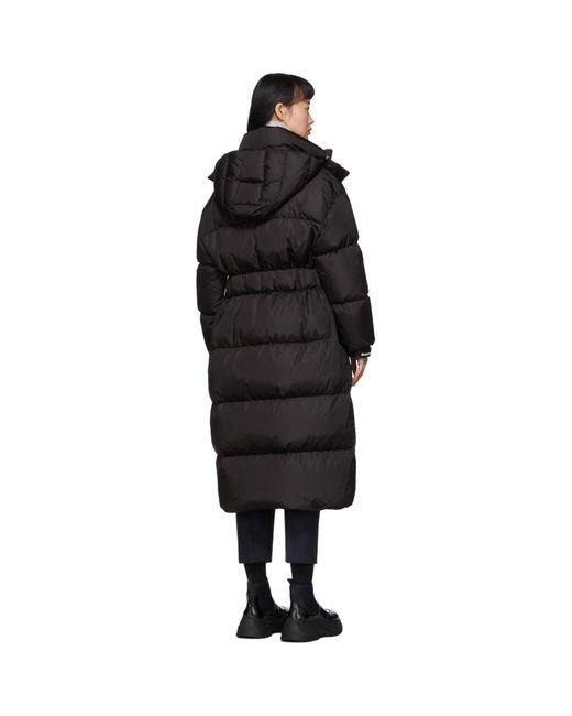 Moncler ブラック ダウン Danubelong コート Black