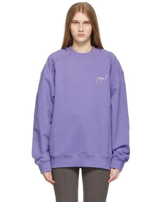 ADER ERROR パープル Kaput スウェットシャツ Purple